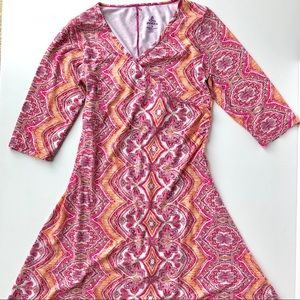 prAna Boho Print Faux Wrap Dress
